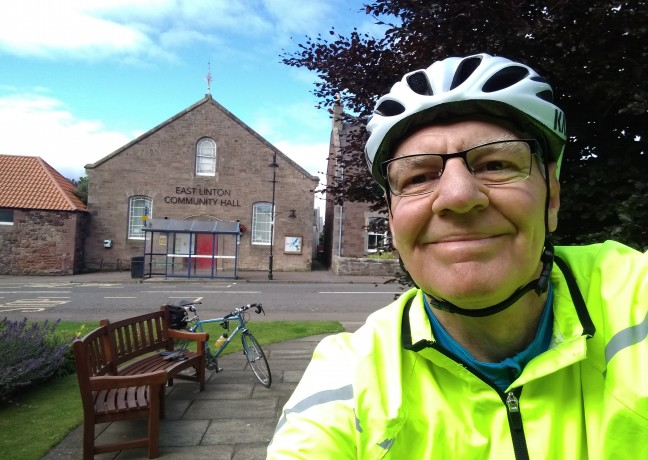 Picture of Dave King, Dave cycled 60 miles from Edinburgh to North Berwick taking in lovely scenery across East Lothian and a well deserved cuppa in bonny East Saltoun