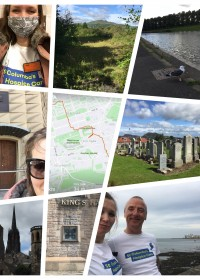 Picture of Ewa Kociszewska, Ewa walked 8 miles 3 times in 3 days from Straiton to Granton and put together a great collage of her city walks