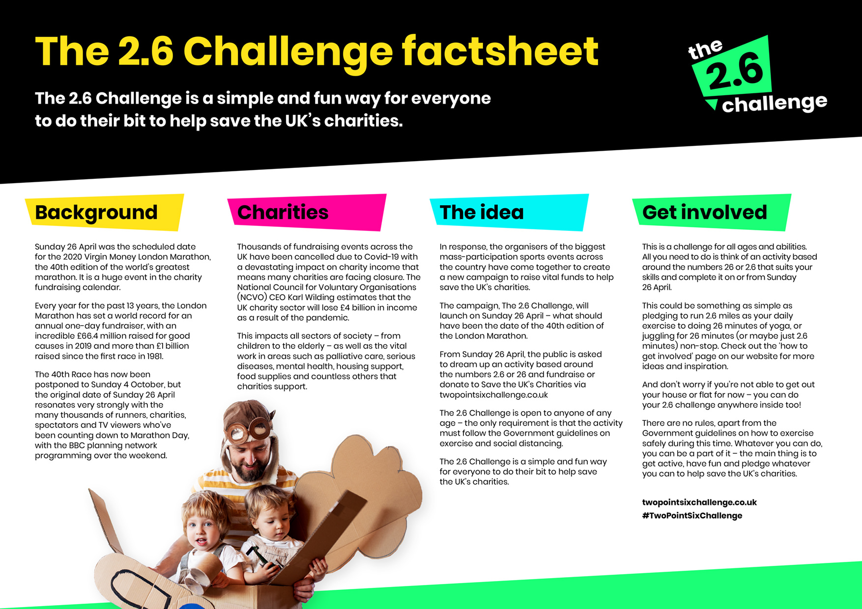 The 2.6 Challenge factsheet