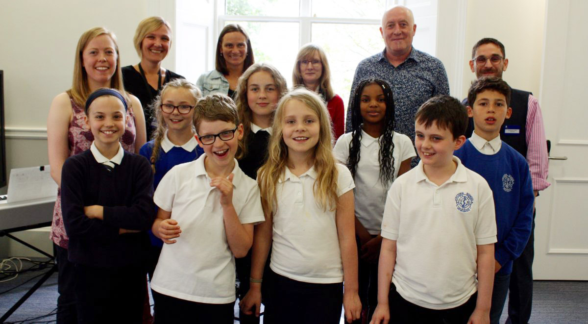 Hospice patients and Primary School children discuss death and dying through songwriting image